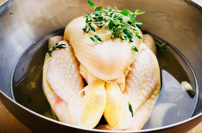 Brined Rotisserie Roast Chicken| seefoodplay.com
