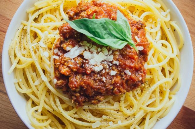 Jonathan's spaghetti bolognese