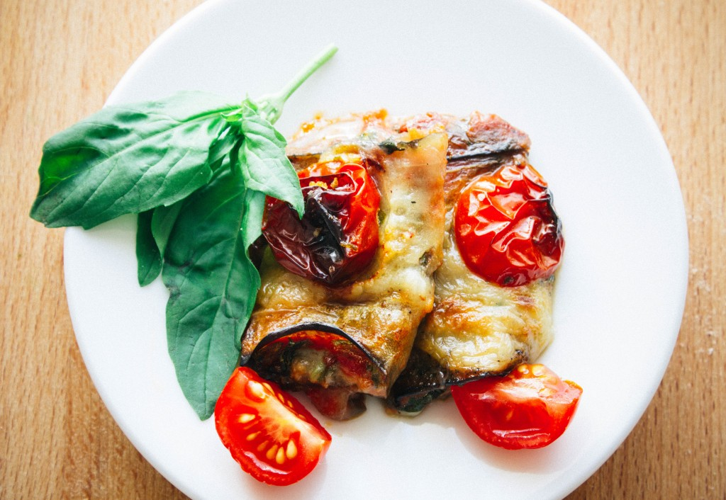 Easy vegetarian eggplant rolls | seefoodplay.com