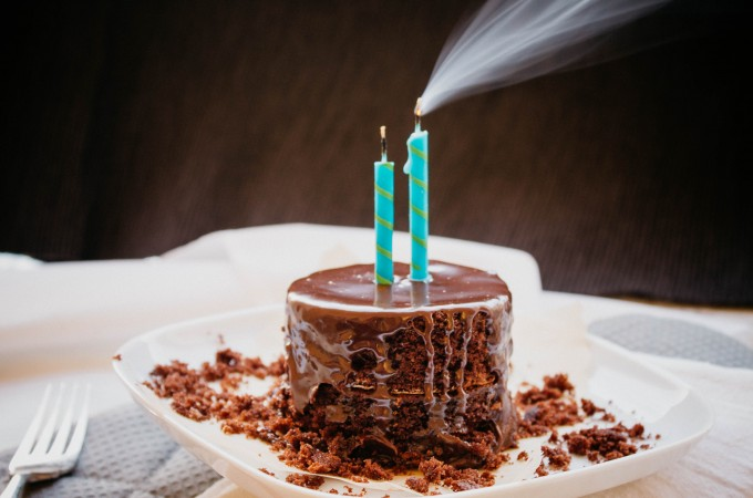 My birthday…and chocolate cake