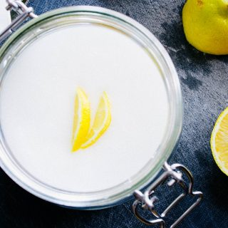 DIY lemon body scrub | seefoodplay.com