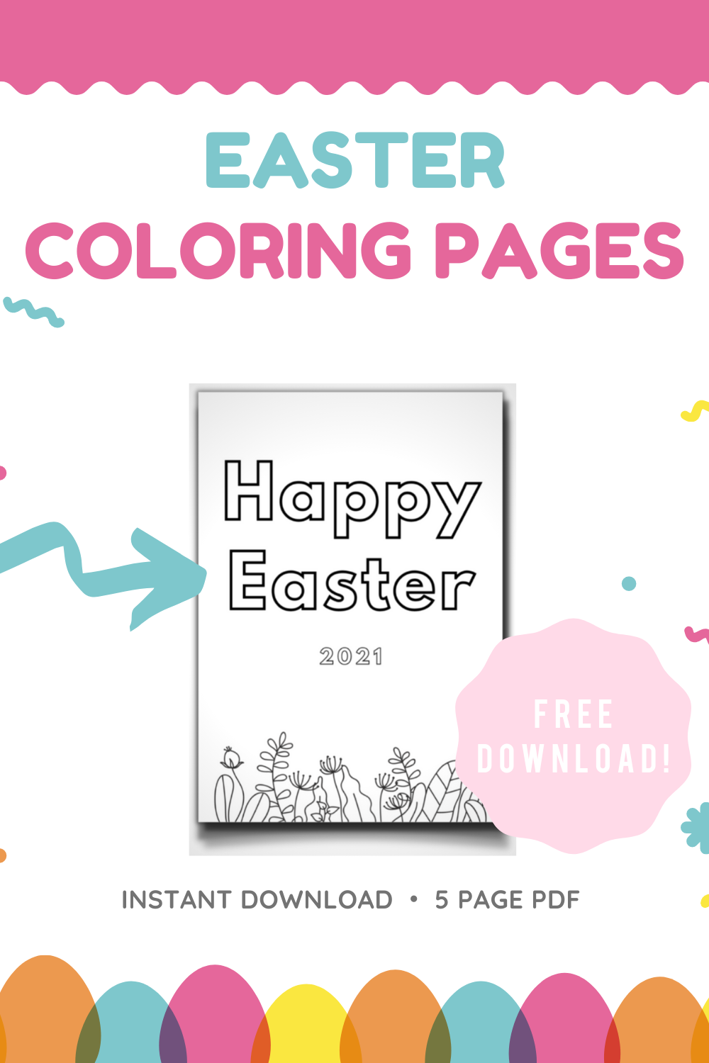 Veronica from SEEFOODPLAY |  FREE EASTER COLORING PAGES