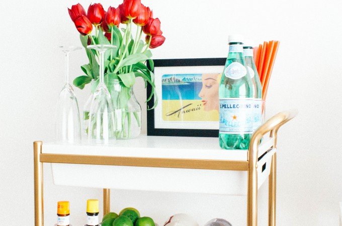 Ikea Bygel cart makeover | seefoodplay.com