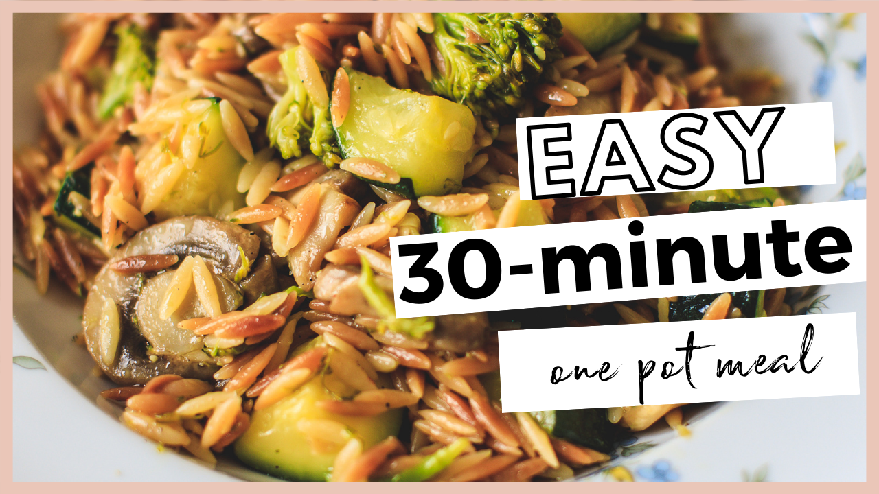 Seefoodplay | EASY 30-MINUTE RECIPE ORZO PASTA AND VEGETABLES